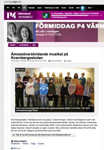 Ämnesöverskridande musikal på Kvarnbergsskolan med låtskrivarcoachen Alexandra Larson